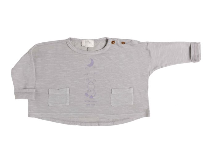 Camiseta Tilin ancha estampada gris